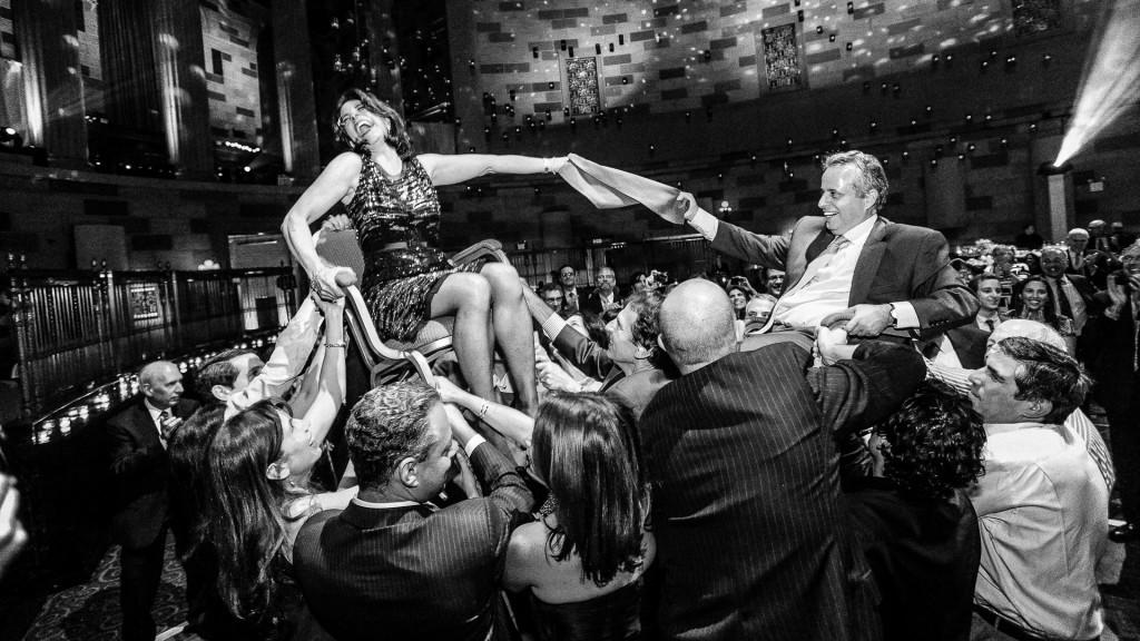 bar mitzvah gotham hall chair hora