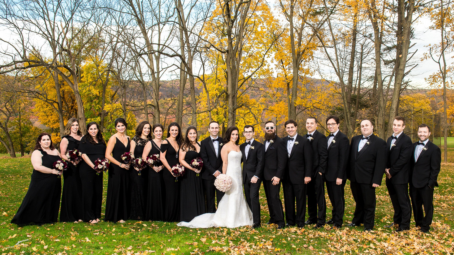 paramount country club wedding bridal party formal photo