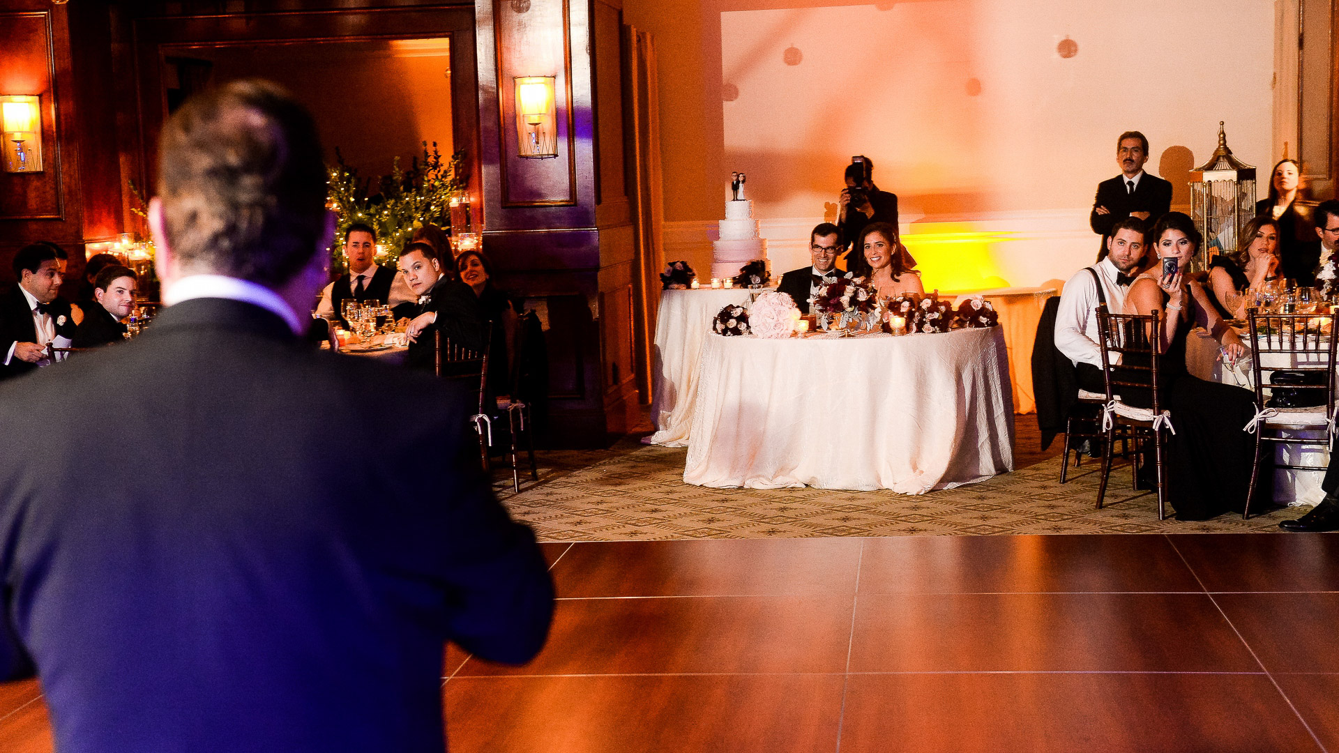 paramount country club wedding toast