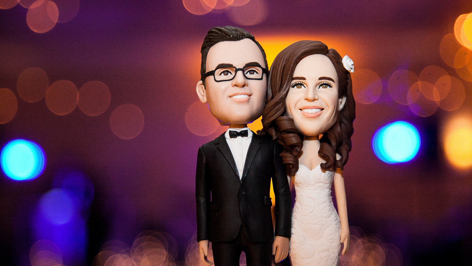 paramount country club wedding cake topper