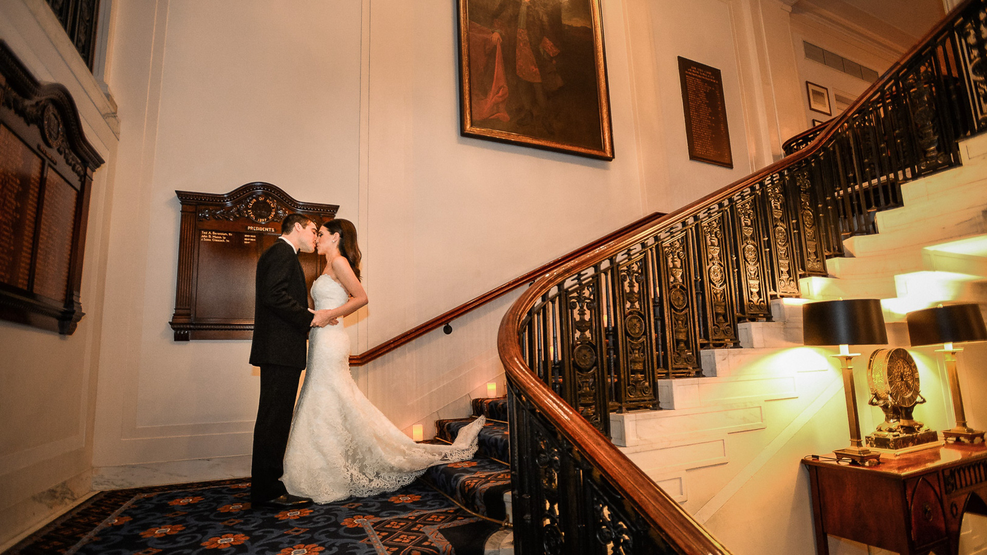 yale club wedding first look