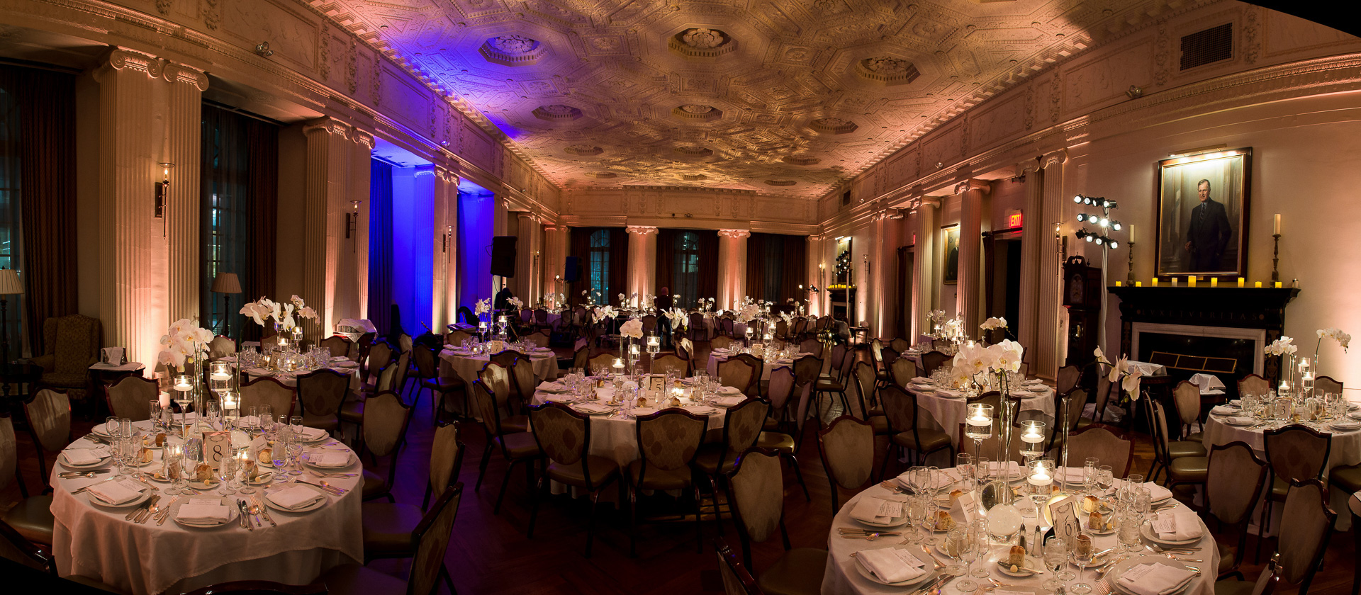 yale club nyc wedding reception setup
