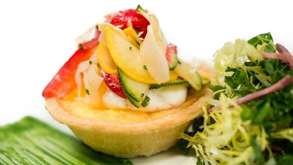 basil vegetable tart