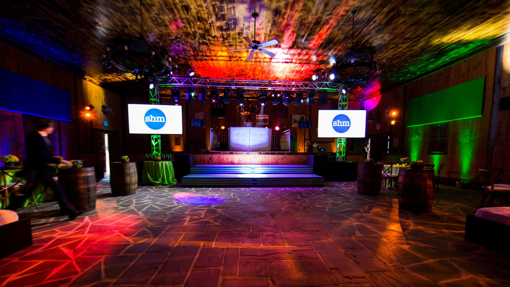 Campo Grande Acres NJ venue Bar Mitzvah in barn setup