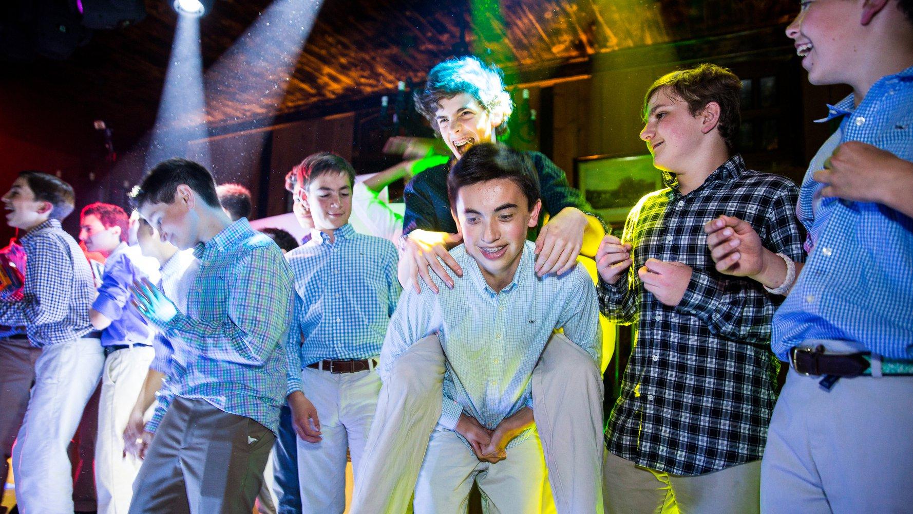 Bar Mitzvah kids dancing