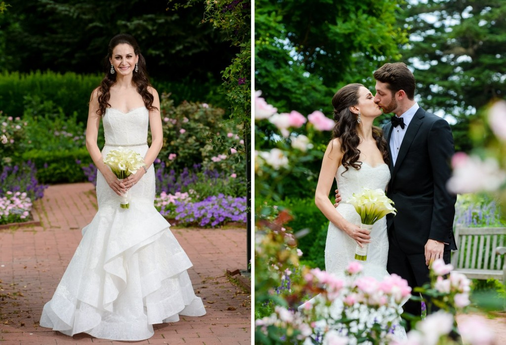 NYBG New York Botanical Garden wedding ceremony reception bride and groom