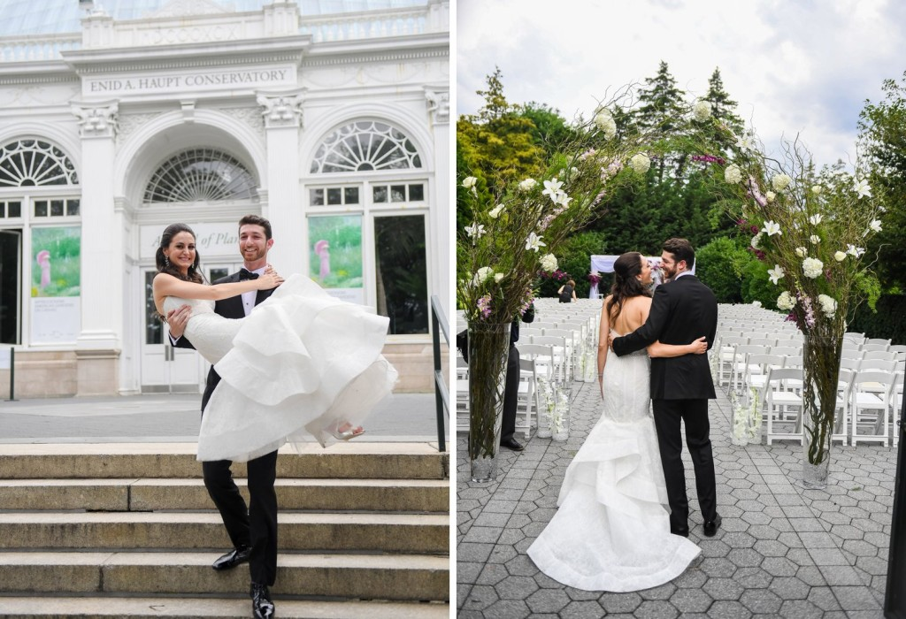 NYBG New York Botanical Garden Wedding Ceremony Reception Bride And Groom  ...