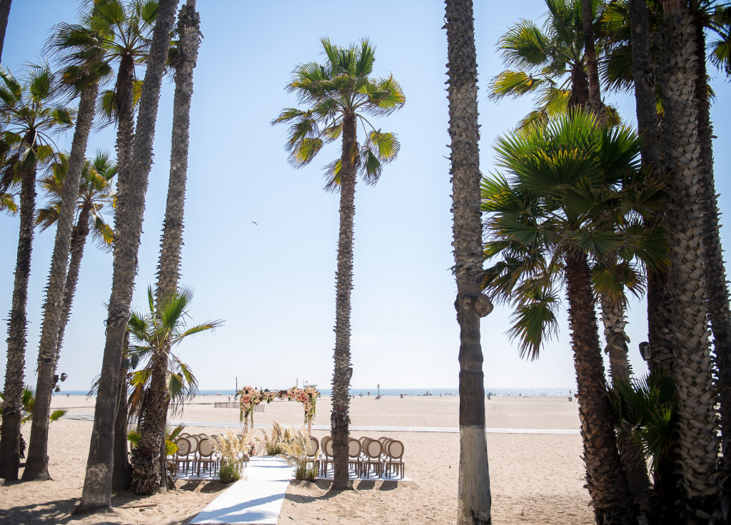casa del mar wedding ceremony setup