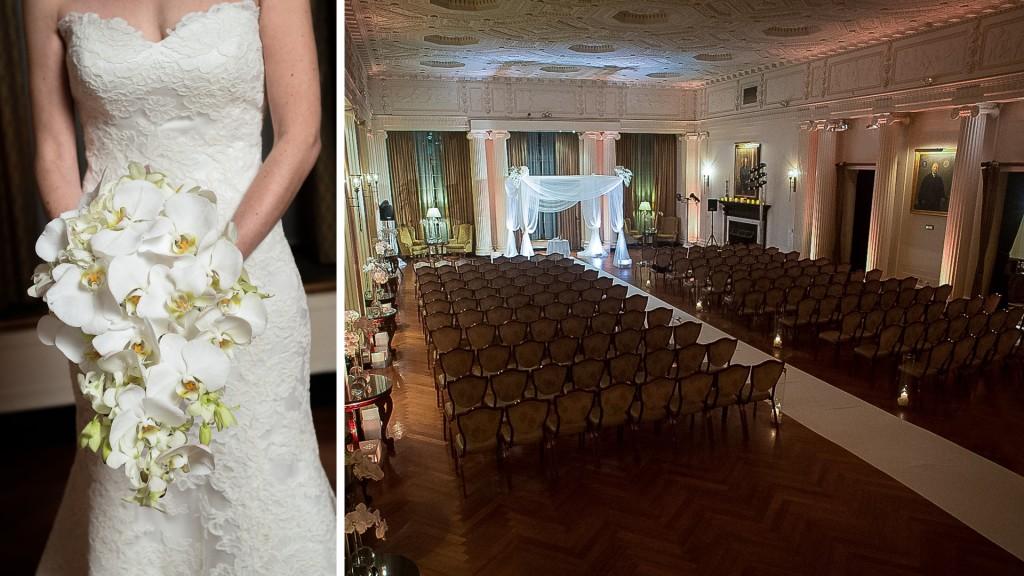 Yale Club Nyc Wedding Ceremony Setup Room Shot